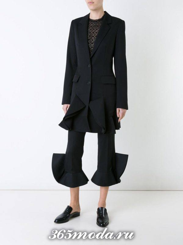 костюм с длинным пиджаком необычный