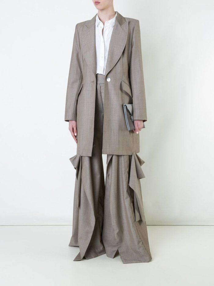 костюм с длинным пиджаком цветной