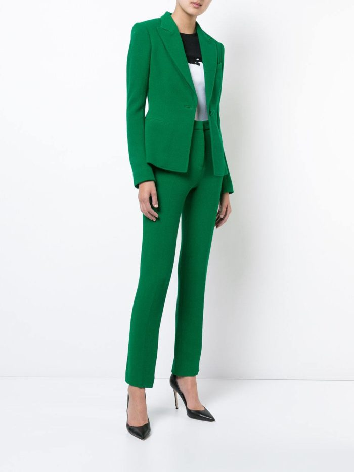 Женские костюмы 2019-2020 года: зеленый