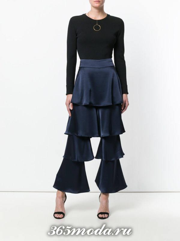 модный лук весна-лето: с синими брюками