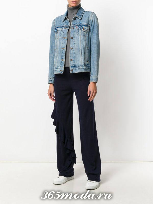 модный лук весна-лето: с черными брюками