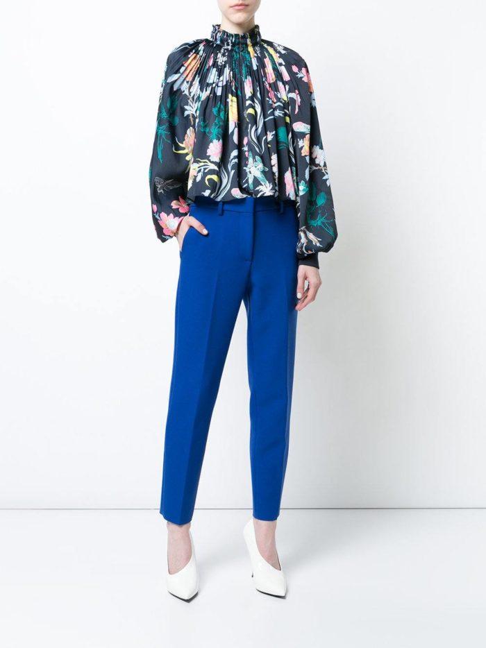 шифоновая блузка цветная с принтом