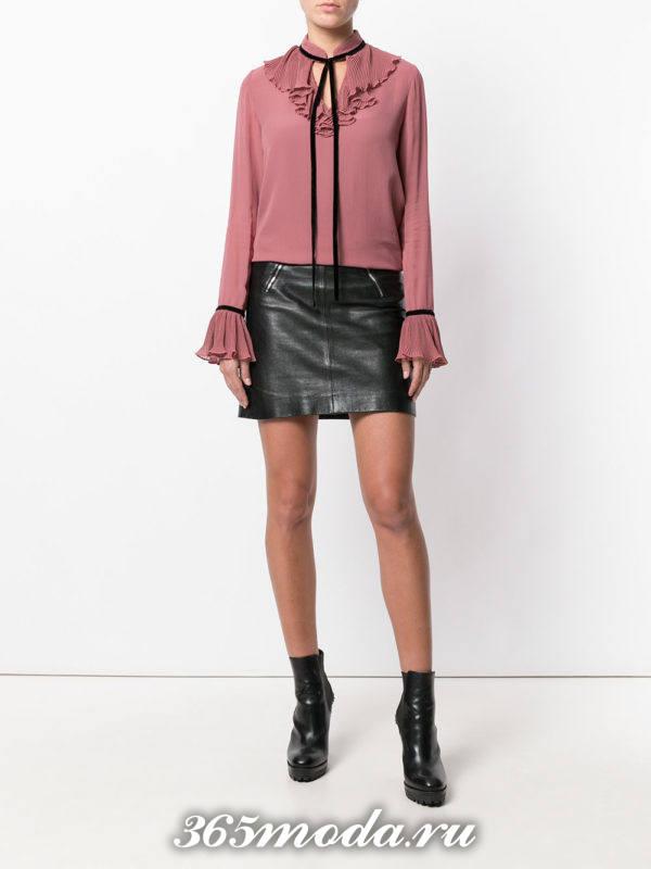 модная цветная шифоновая блузка