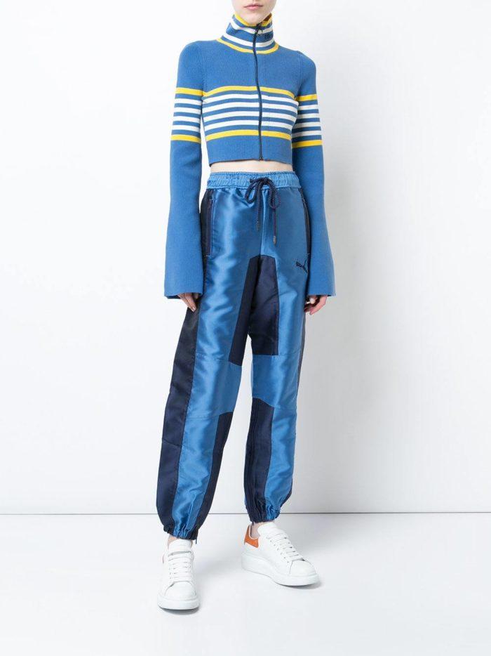 голубой комплект с полосками