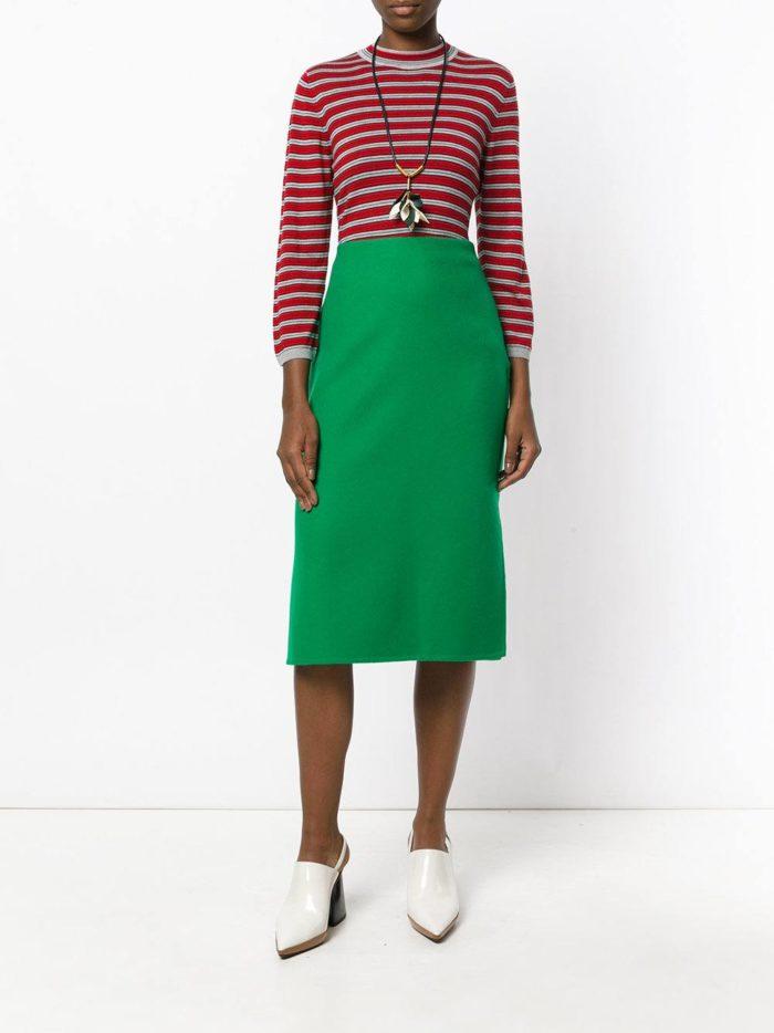 зеленая юбка карандаш