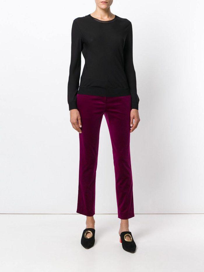 сиреневые бархатные брюки
