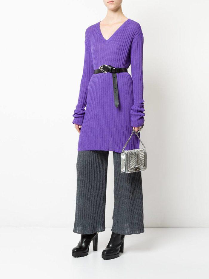 сиреневая свитер-туника
