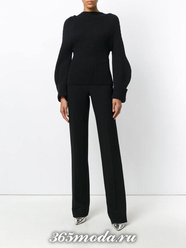 модный лук черного цвета