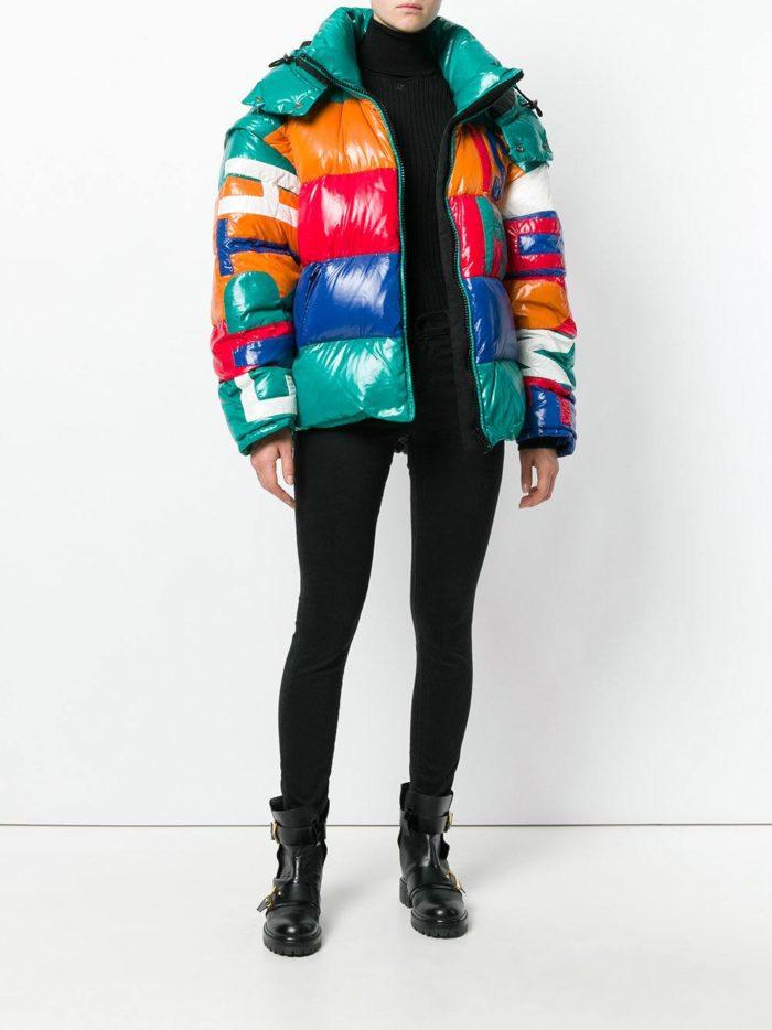 Модные цвета осень-зима 2019-2020: разноцветный пуховик