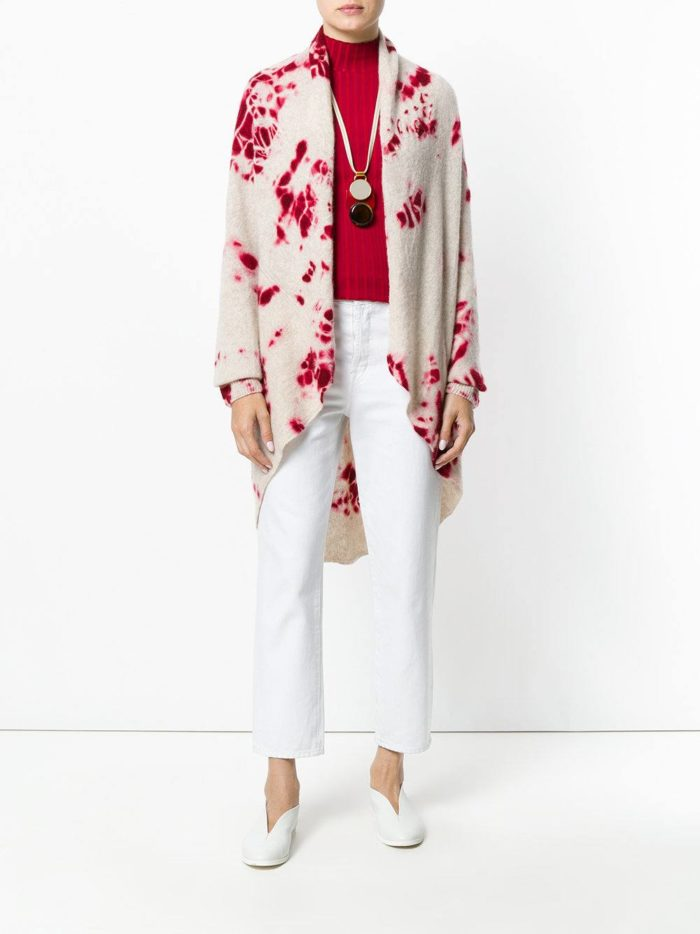 модные кардиганы: трикотажный модный с принтом
