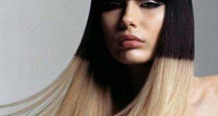окрашивание волос двухцветное