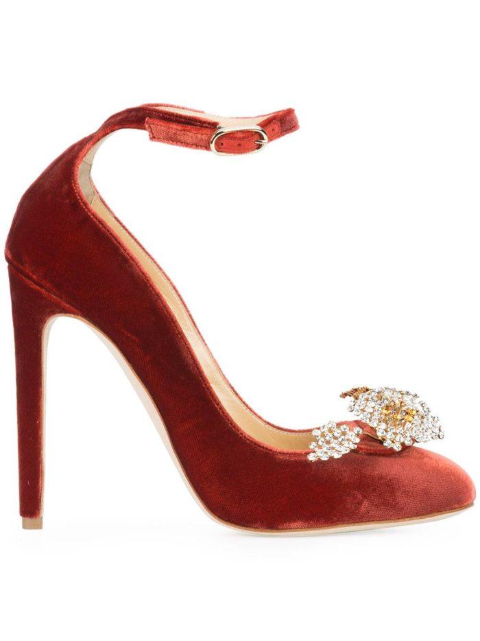 Женские туфли весна-лето 2020: бархатные на шпильке