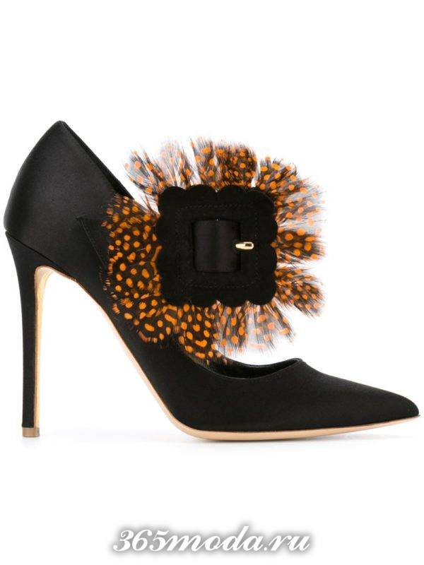 туфли на шпильке из сатина