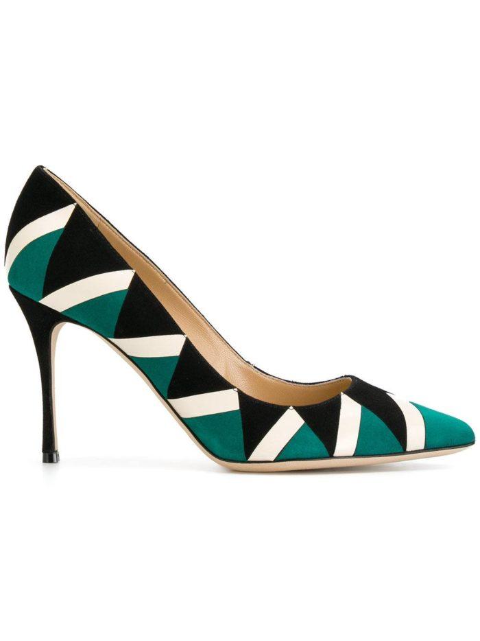 Женские туфли весна-лето 2020: на шпильке с узором