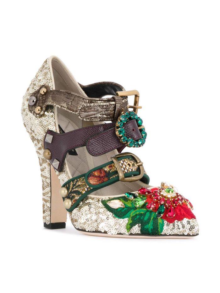 Женские туфли весна-лето 2020: на толстом каблуке с декором