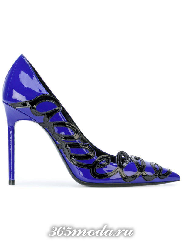 туфли лодочки синие