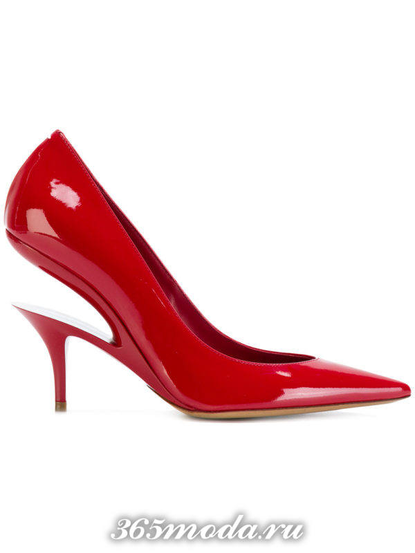 туфли лодочки красный
