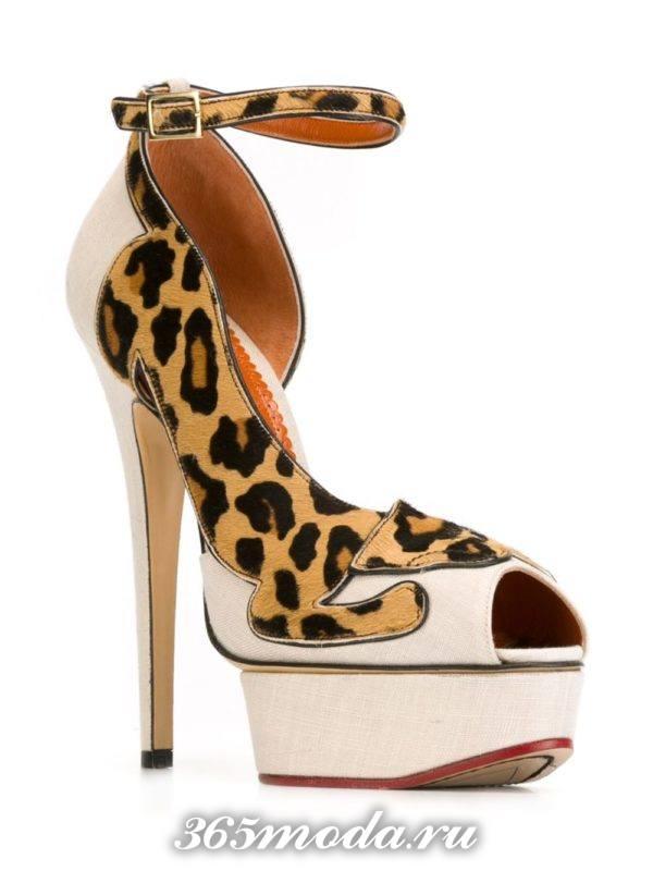 туфли на шпильке леопардовые