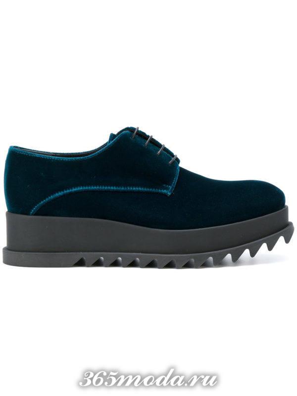 туфли на траекторной подошве цветные