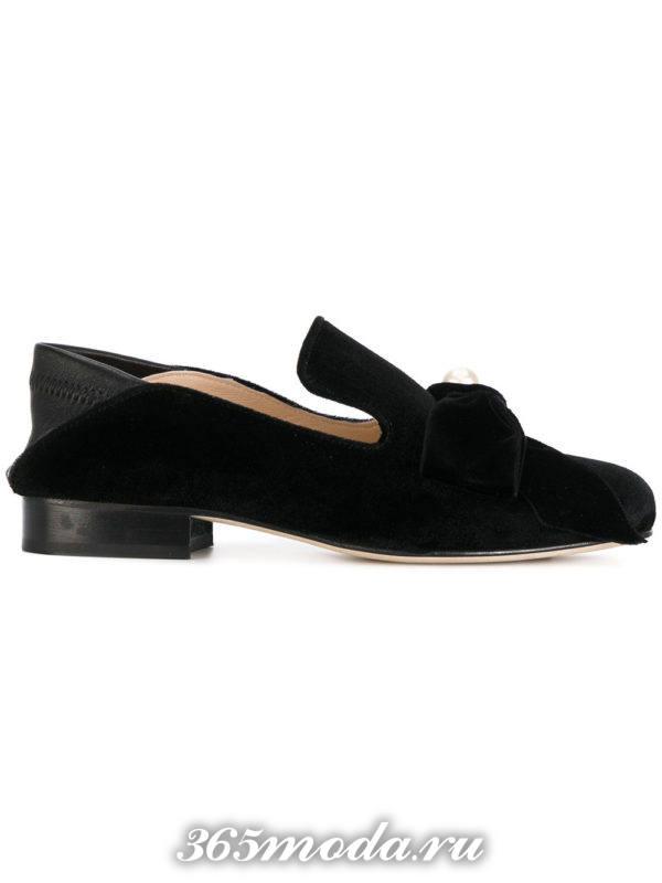 туфли на низком ходу черные