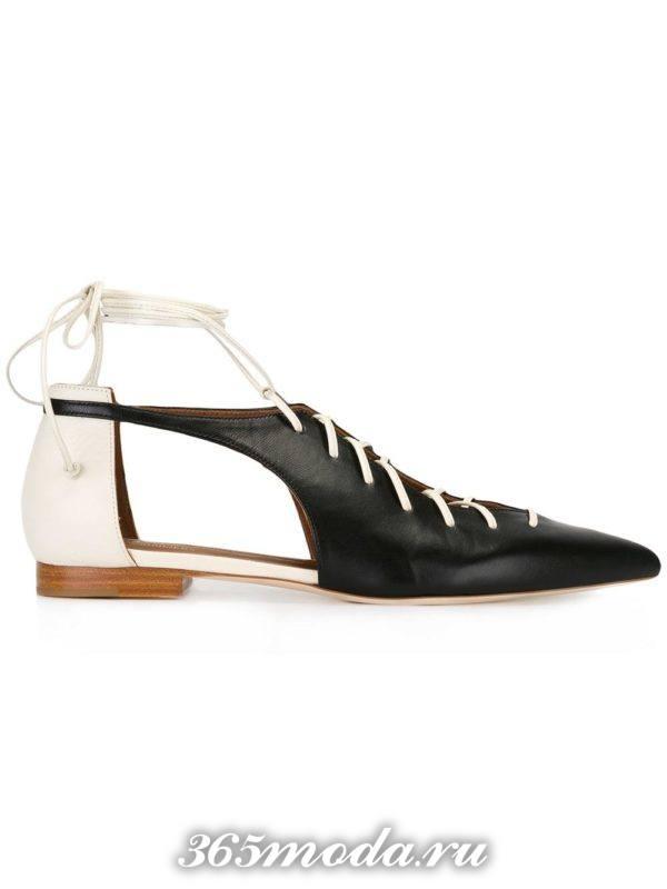 туфли на низком ходу двухцветные