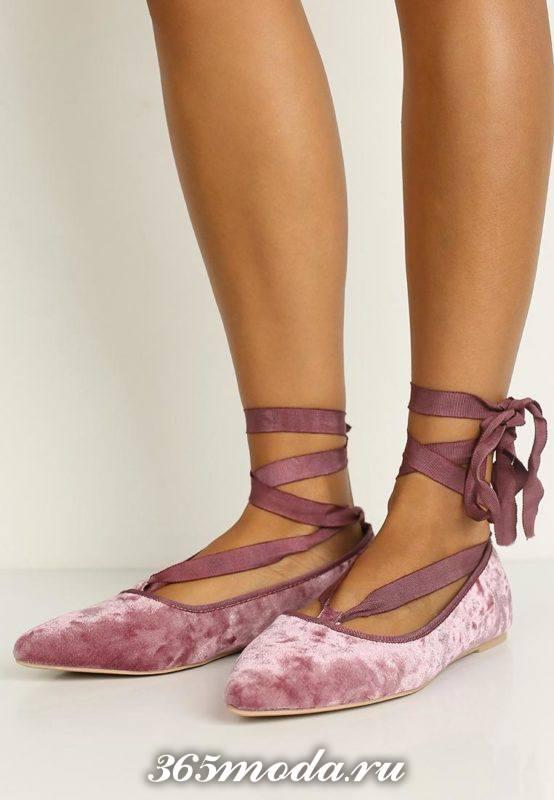 туфли на низком ходу розовые