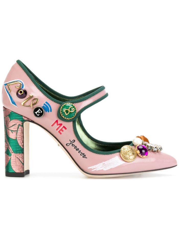 Женские туфли весна-лето 2020: розовые на толстом каблуке