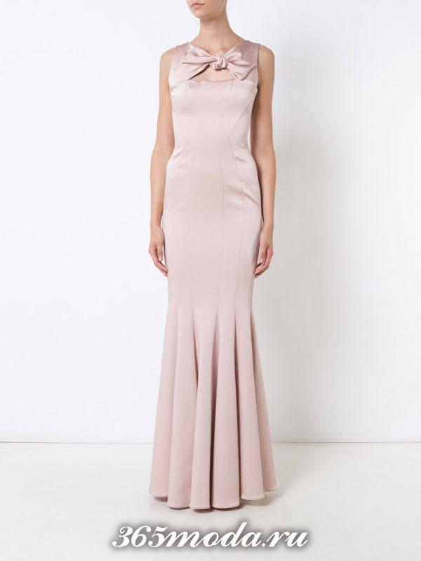 выпускное платье русалка розовое