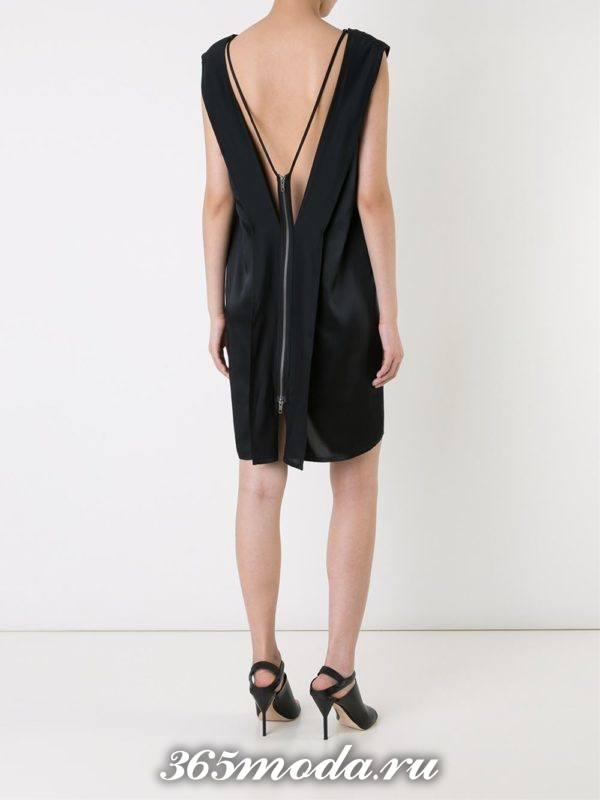выпускные платье с открытой спиной короткое черное