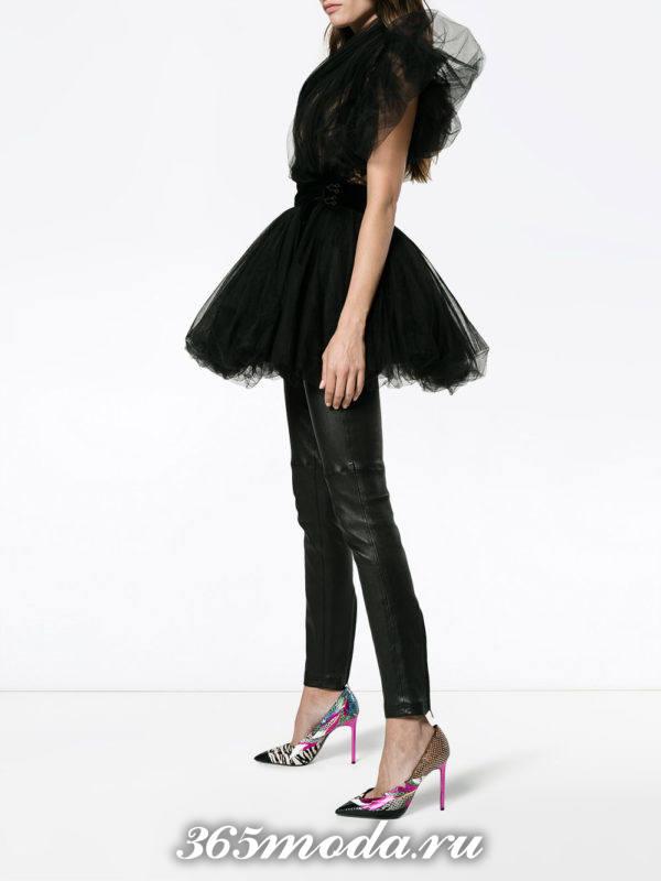 выпускное короткое черное платье пачка
