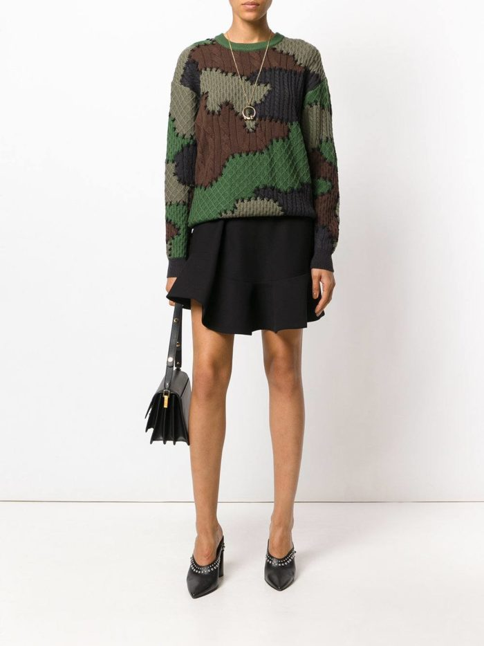 вязаный свитер цвета хаки осень-зима