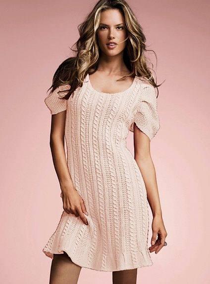 вязаное платье крючком весна осень мини с коротким рукавом