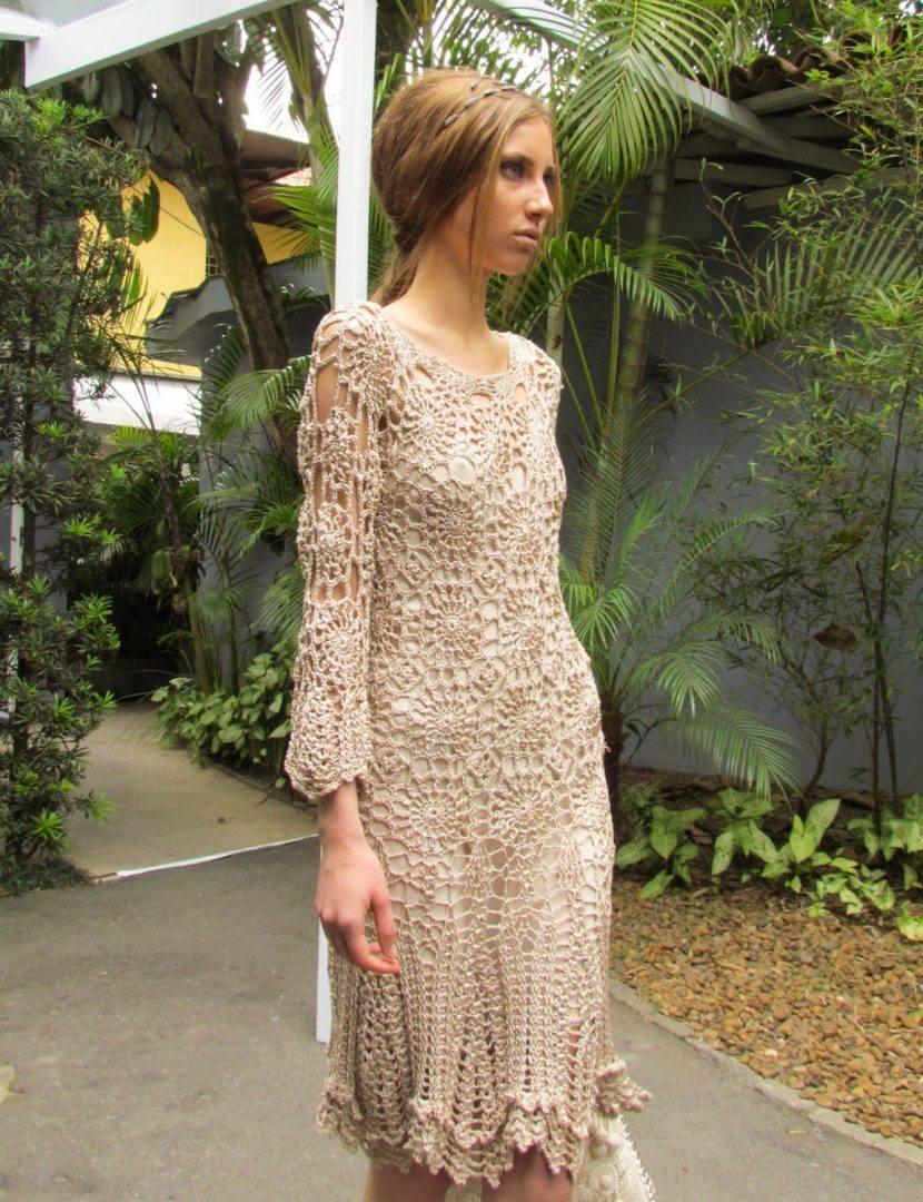 Вязаные платья от дизайнеров со схемами фото 553