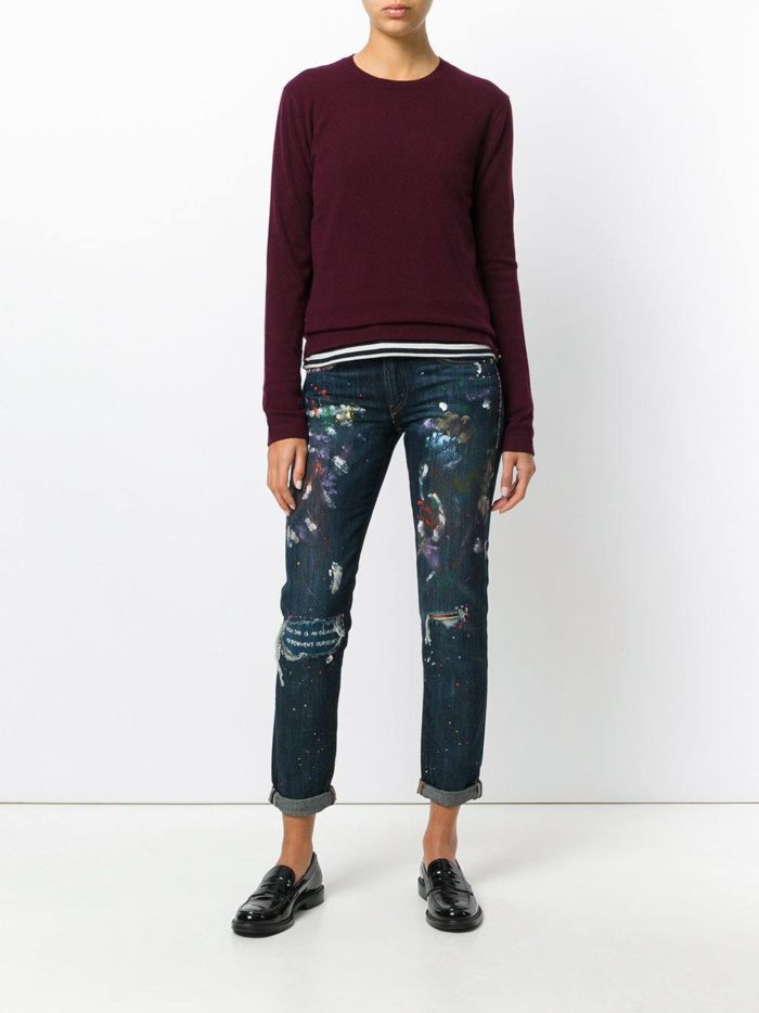 Базовый гардероб 2019-2020: прямые джинсы с декором