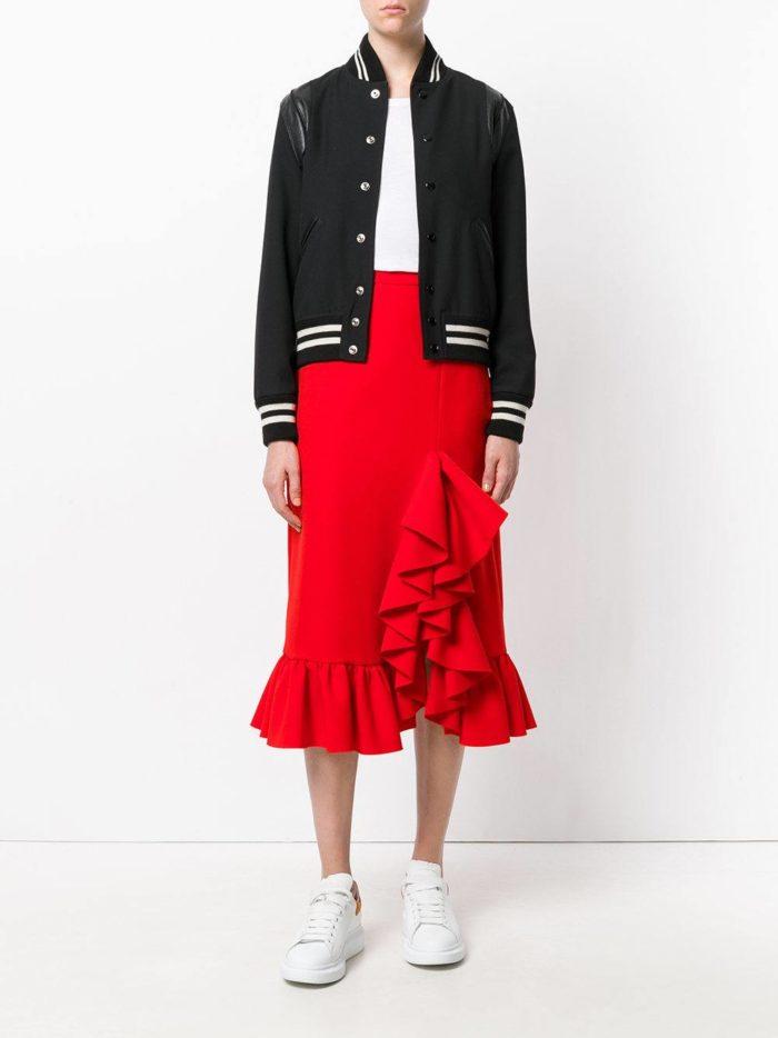Базовый гардероб 2019-2020: юбка карандаш с оборками