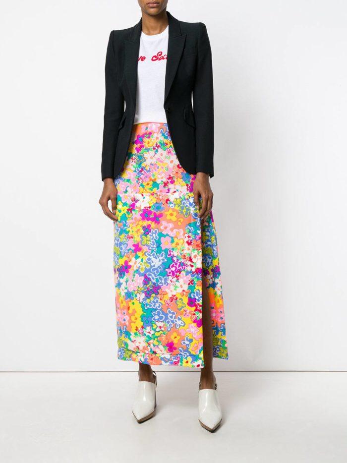 Базовый гардероб: длинная юбка с принтом