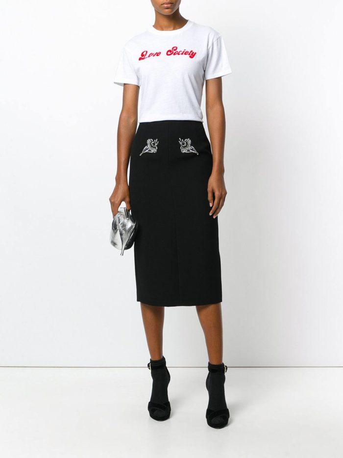 Базовый гардероб 2019-2020: черная юбка карандаш
