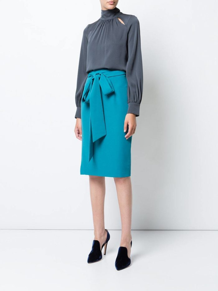 Базовый гардероб: юбка карандаш с бантом