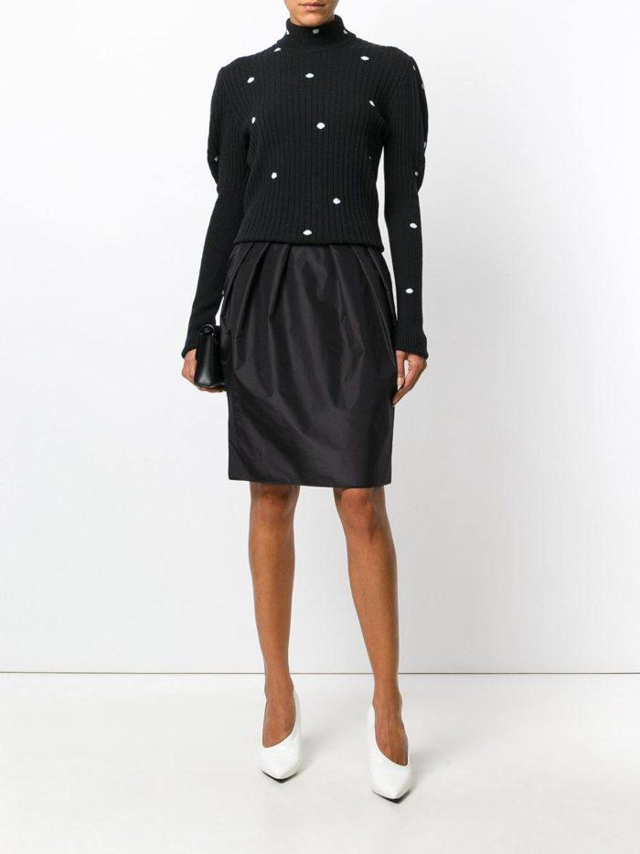 Базовый гардероб: черная юбка тюльпан