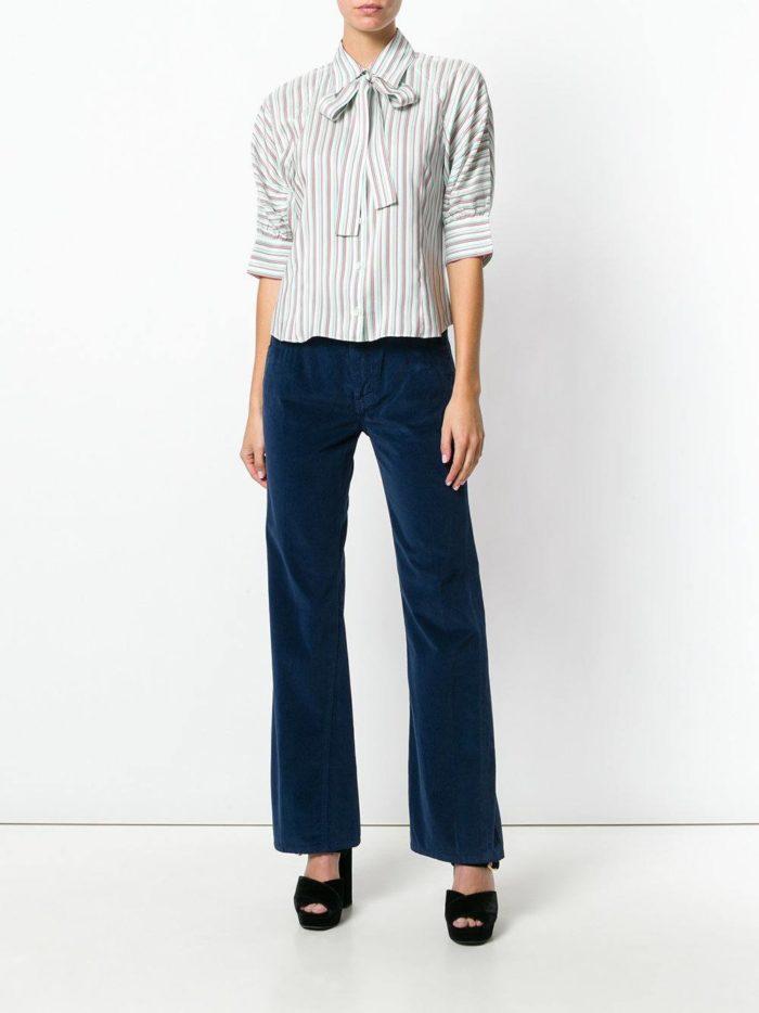 Базовый гардероб: бархатные брюки клеш