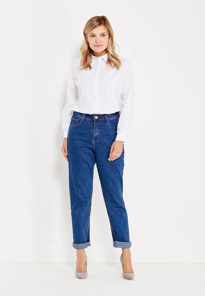 Базовый гардероб 2019-2020: джинсы бойфренды синие
