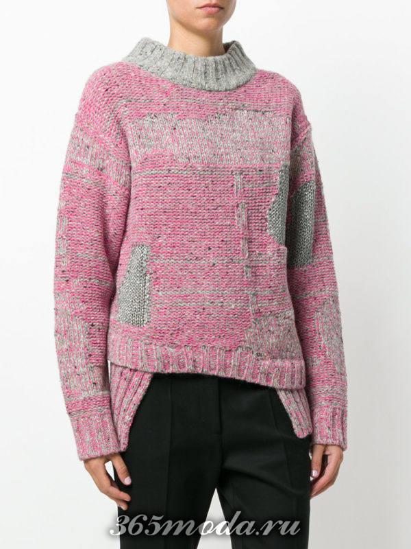 базовый асимметричный свитер