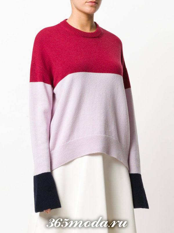 базовый свитер колорблок