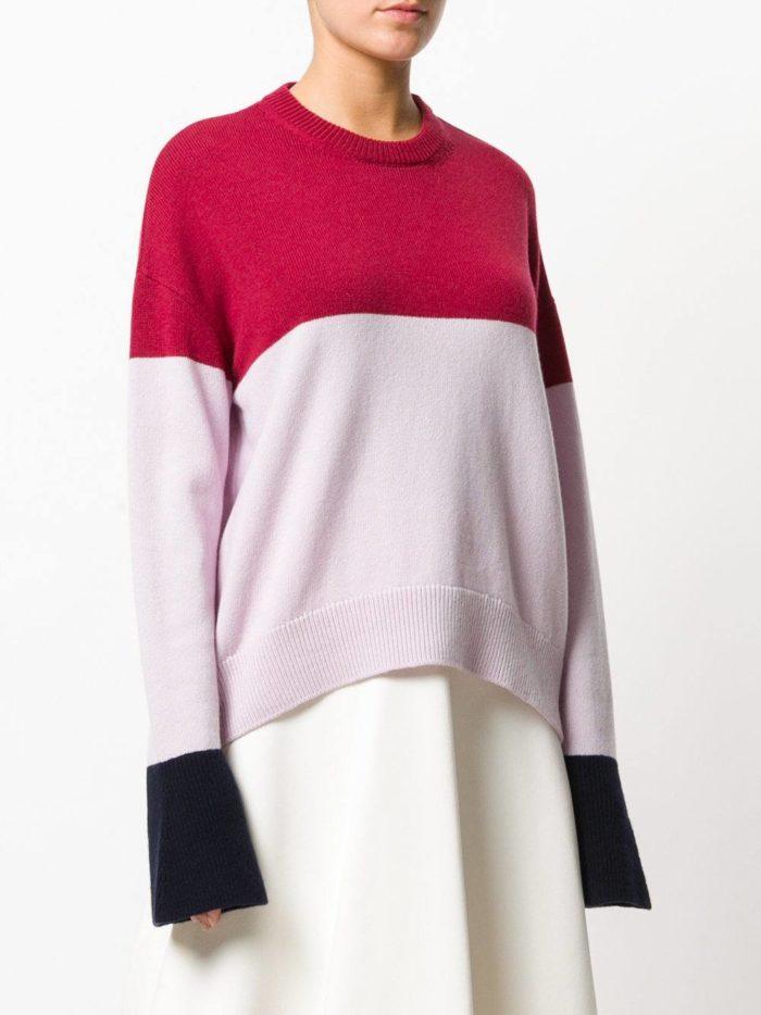 Базовый гардероб: свитер колорблок