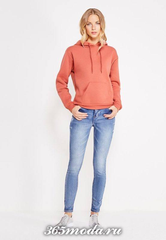 базовые джинсы скинни синие