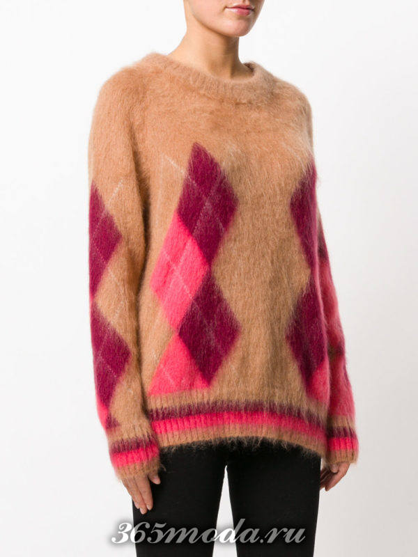 базовый свитер с геометрическим рисунком