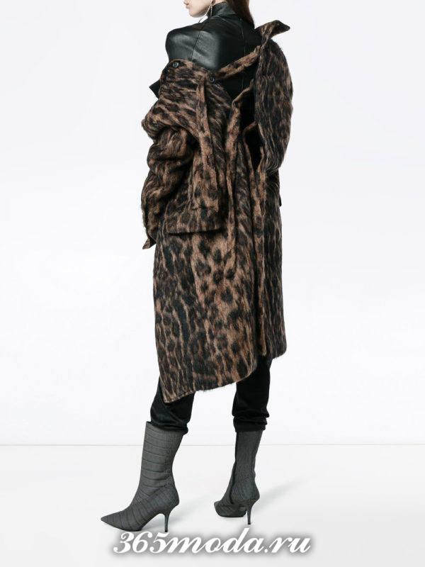 базовое леопардовое пальто