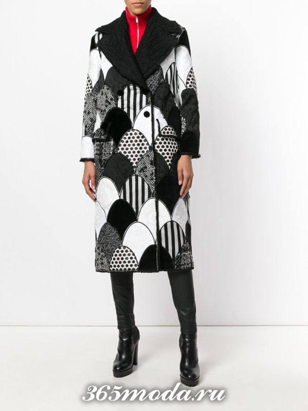 базовое пальто с принтом