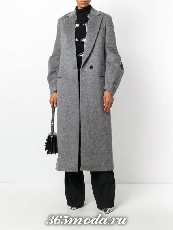 базовое серое пальто