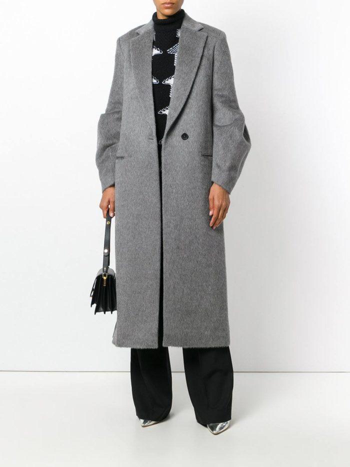 Базовый гардероб: серое пальто